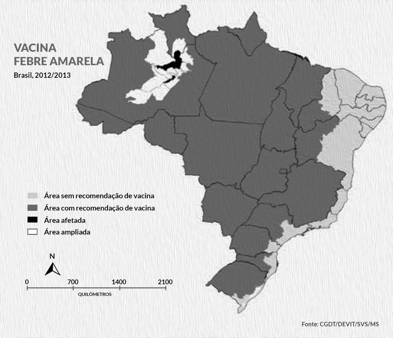 vacina febre amarela svs ms brasil 2012 2013