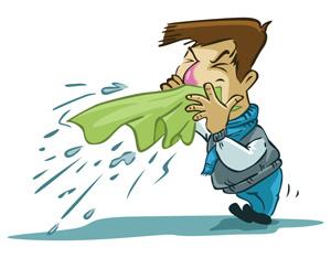 Ilustração gripe